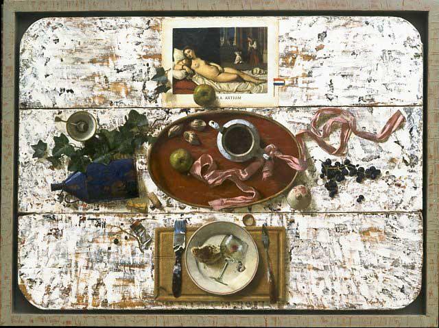Tafelblad – 2001 – 130 x 100 cm – acryl op paneel – niet beschikbaar