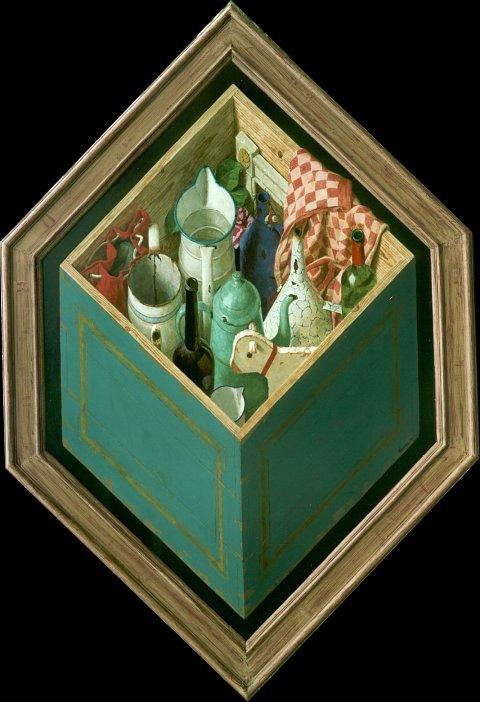 Theekist – 2000 – 120 x 100 cm – acryl op paneel – niet beschikbaar