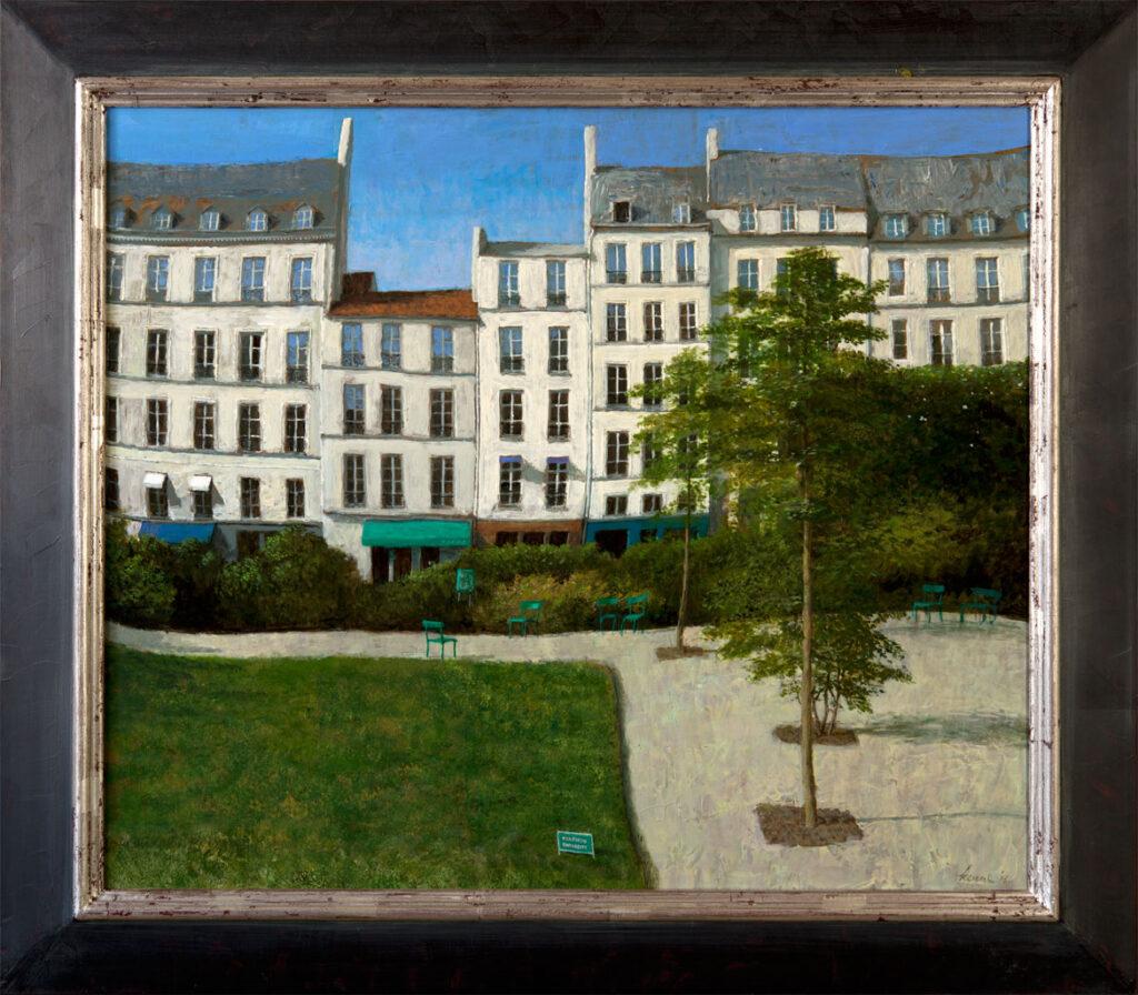 Tuin Picasso – 2016 – 70 x 60 cm – acryl op paneel – niet beschikbaar