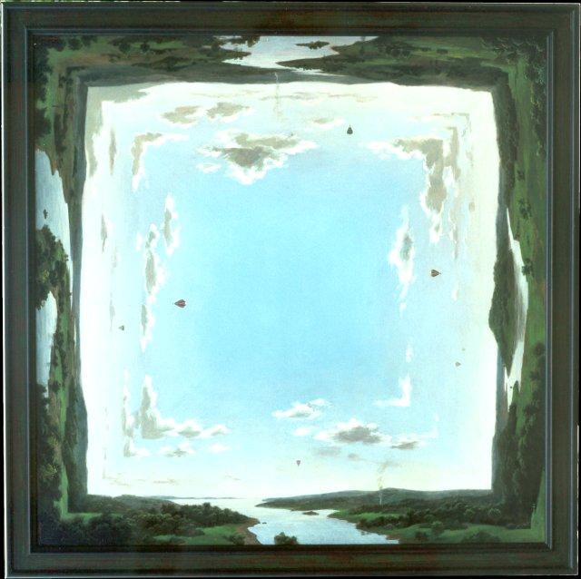 Veelzijdig landschap – 2001 – 140 x 140 cm – acryl op linnen – niet beschikbaar