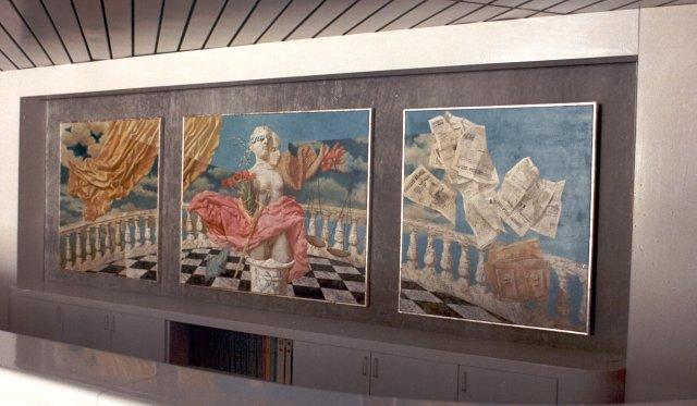 Vrouwe Justitia, advocatenkantoor Baker & Mackezie, Amsterdam – 400 x 120 cm – acryl op linnen – niet beschikbaar