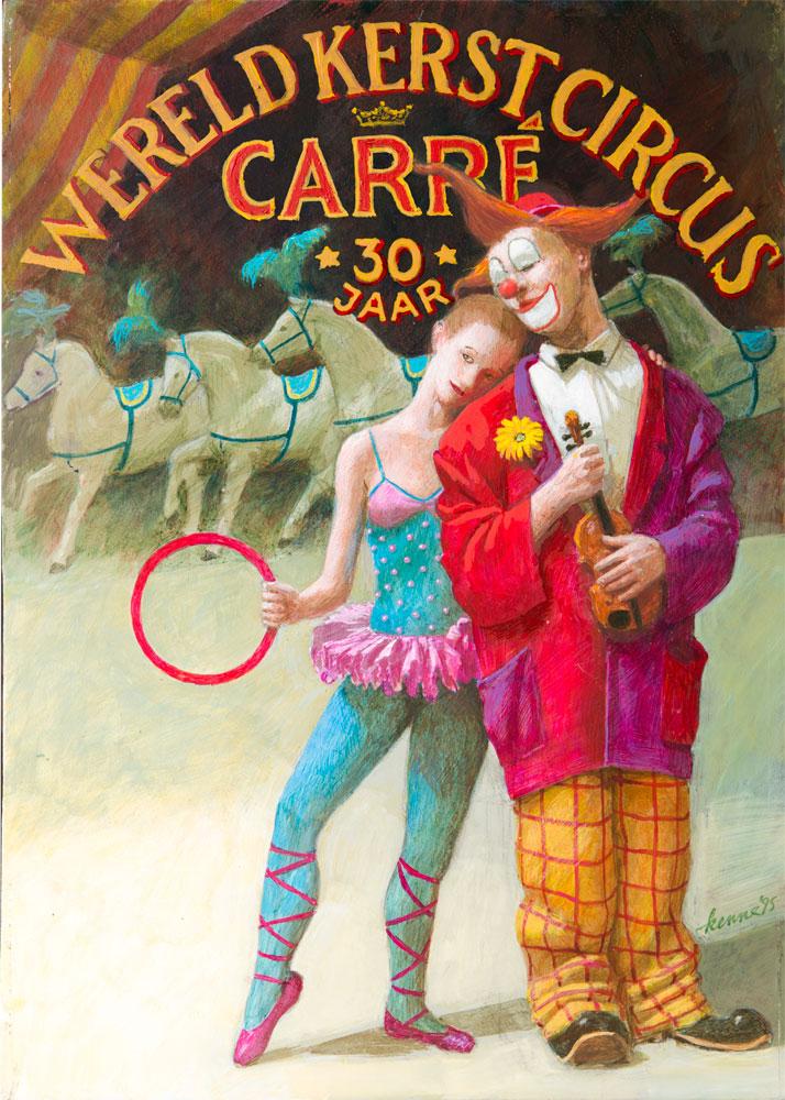 Wereldcircus Carré – 1995 2014 – acryl – niet beschikbaar