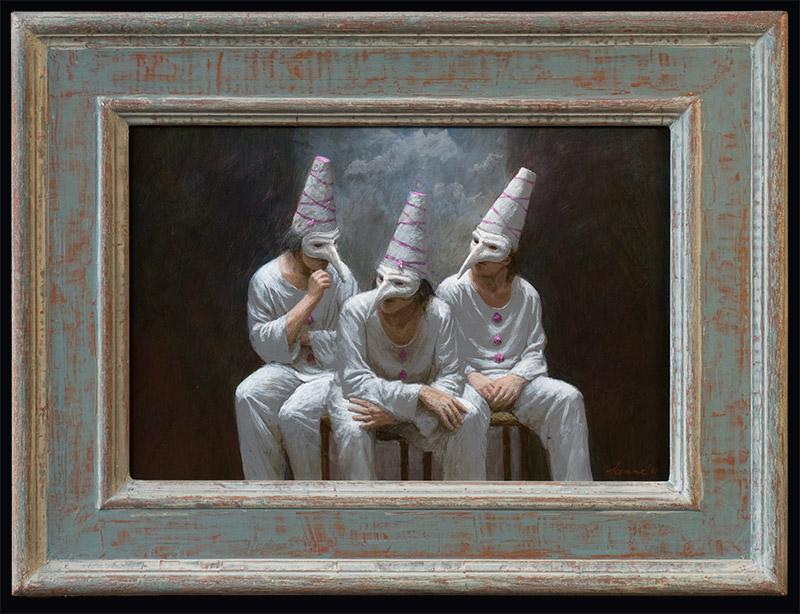 Wit trio – 2011 – 30 x 45 cm – acryl op paneel – niet beschikbaar