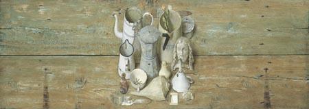 Witte dingen – 2006 – 57 x 160 cm – acryl op paneel – niet beschikbaar