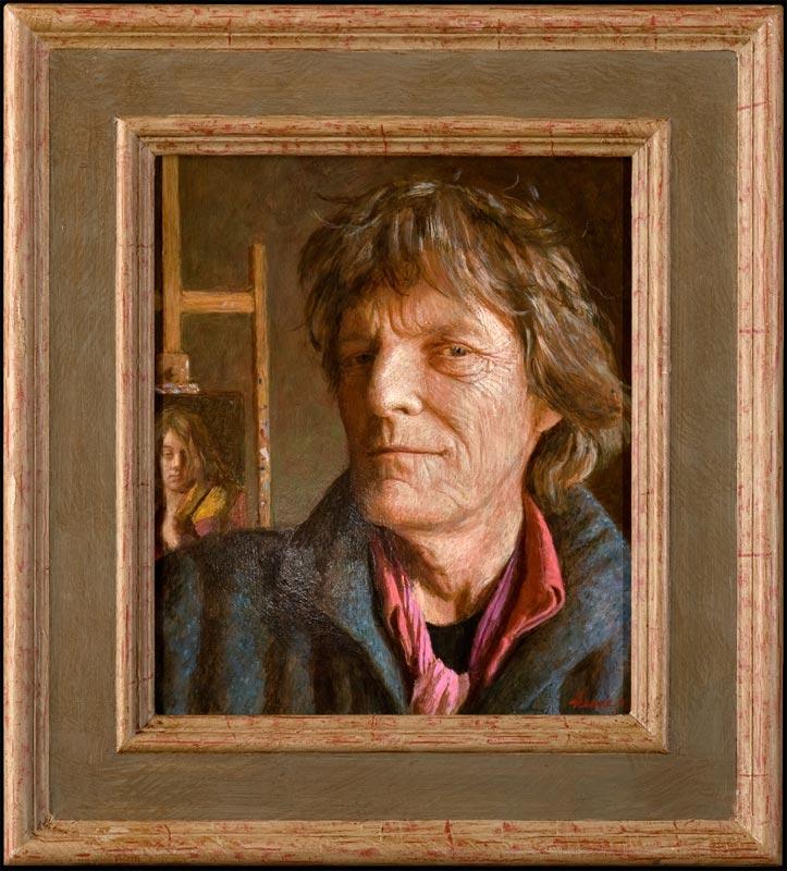 Zelfportret met Leau – 2012 – 35 x 30 cm – niet beschikbaar