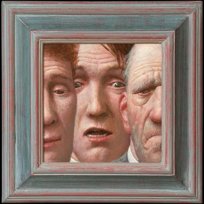 de Verbazing – 25 x 25 cm – acryl op paneel – niet beschikbaar