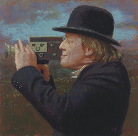 het Cameramannetje – 17 x 17 cm – acryl op paneel – niet beschikbaar